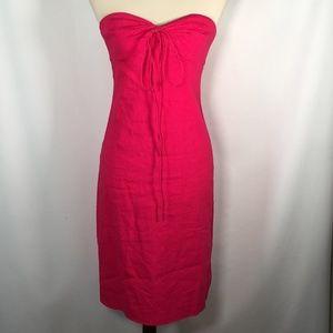 Theory Dress 2 Linen Pink Sheath bandage